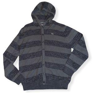 Billabong Button Hooded Sweater sz XL